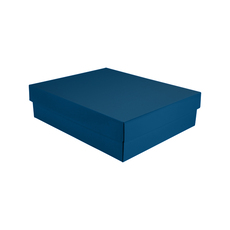 Triple Rectangle Gift Box Base & Lid - Premium Matt Navy Blue