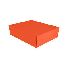 Triple Wine Pack Gift Box Base & Lid - Premium Matt Orange WITH REMOVABLE INSERT