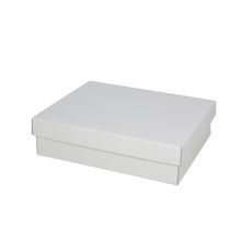 Triple Rectangle Gift Box Base & Lid - Kraft White