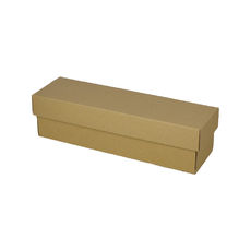 Champagne Gift Box Single 90mm Base & Lid - Kraft Brown (Brown Inside)