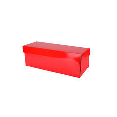 Champagne Gift Box Single 90mm Base & Lid- Premium Gloss Red (White Inside)