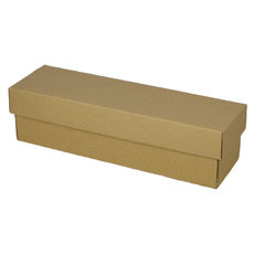 Champagne Gift Box Single 100mm Base & Lid - Kraft Brown (Brown Inside)