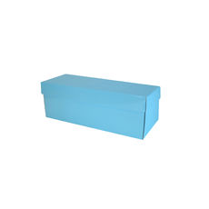 Champagne Gift Box Single 100mm Base & Lid - Premium Gloss Baby Blue (White Inside)