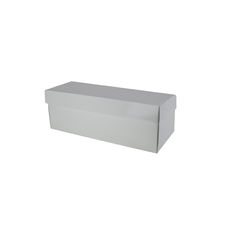 Champagne Gift Box Single 100mm Base & Lid - Premium Matt White (White Inside)
