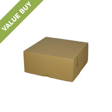 Cake Box 7 x 7 x 3 inches - Kraft Brown Cardboard Value Buy