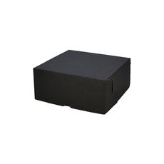 Cake Box 7 x 7 x 3 inches - Kraft Black (Double Sided Black)