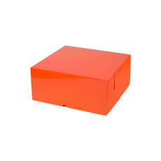 Cake Box 7 x 7 x 3 inches - Premium Gloss Orange Cardboard