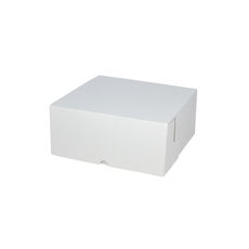 Cake Box 7 x 7 x 3 inches - Kraft White Inside/ White Outside Cardboard (White Inside)