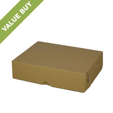 Cake Box 10 x 8 x 2.5 inches - Kraft Brown Cardboard Value Buy