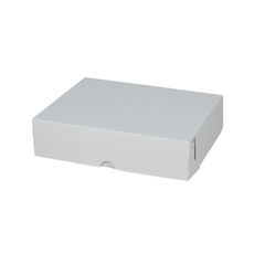 WAS $4.15 - NOW $2.07 - 100 x Cake Box 10 x 8 x 2.5 inches - Kraft White Inside/ White Outside Cardboard