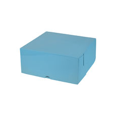 Cake Box 8 x 8 x 4 inches - Premium Gloss Baby Blue Cardboard (White Inside)