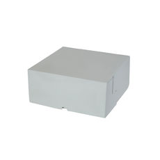 Cake Box 9 x 9 x 4 inches - Premium Gloss White Cardboard