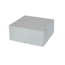 Cake Box 10 x 10 x 4 inches - Premium Matt White Cardboard