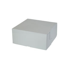 Cake Box 11 x 11 x 5 inches - Premium Gloss White Cardboard