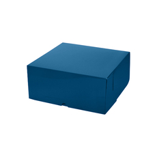 Cake Box 11 x 11 x 5 inches - Premium Matt Navy Blue Cardboard (White Inside)