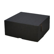 Cake Box 12 x 12 x 5 inches - Kraft Black