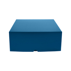 Cake Box 12 x 12 x 5 inches - Premium Gloss Navy Blue Cardboard (White Inside)