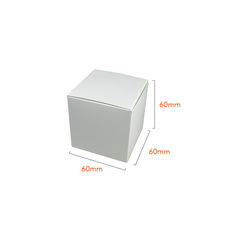 One Piece Cube Box 60mm - Smooth White Paperboard (285gsm)