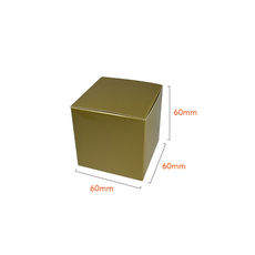 One Piece Cube Box 60mm - Gloss Gold  - Paperboard
