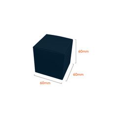 One Piece Cube Box 60mm - Matt Navy Blue  - Paperboard