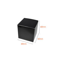 One Piece Cube Box 60mm - Matt Black  - Paperboard