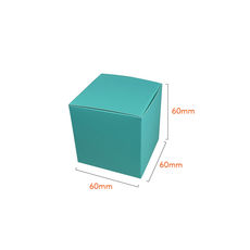 NOW $1.00ea - 300 x One Piece Cube Box 60mm - Matt Blue (White Inside)