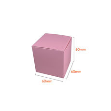 One Piece Cube Box 60mm - Matt Pink (White Inside)