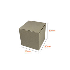 One Piece Cube Box 60mm - Recycled Brown (Brown Inside)
