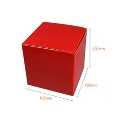 NOW $1.30 -95 x One Piece Cube Box 120mm - Gloss Red (White Inside)