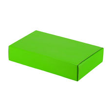 One Piece Postage & Gift Box 10465 - Premium Gloss Lime Green (White Inside)