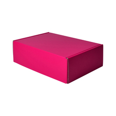 One Piece Postage & Gift Box 10465 - Premium Gloss Hot Pink (White Inside)