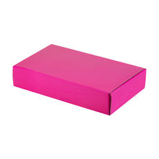 One Piece Postage & Gift Box 10465 - Premium Matt Hot Pink (White Inside) Temp out of Stock