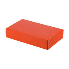 One Piece Postage & Gift Box 10465 - Premium Gloss Orange (White Inside)