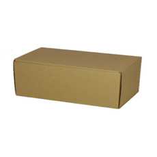 One Piece Postage & Gift Box 10549 - Kraft Brown (Brown Inside)