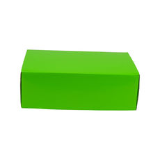 One Piece Postage & Gift Box 10946 - Premium Gloss Lime Green (White Inside)