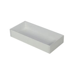 NEW SIZE Rectangle 10 Gift Box with Clear Lid- Smooth White  (White Inside)