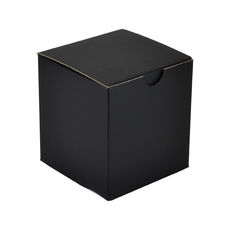 One Piece Postage, Candle &  & Gift Box 15012 with removable insert - Kraft Black (Double Sided Black)