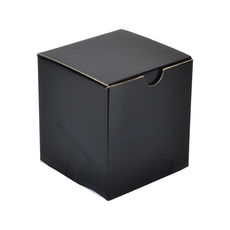One Piece Postage, Candle &  & Gift Box 15012 with removable insert - Premium Gloss Black (White Inside)