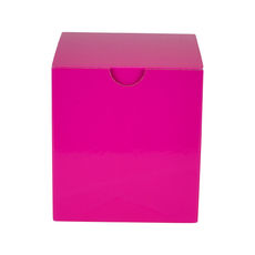 One Piece Postage & Gift Box 15012 - Premium Gloss Hot Pink (White Inside)