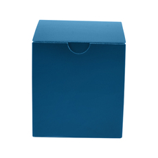 One Piece Postage, Candle & Gift Box 15012 with removable insert - Premium Matt Navy Blue (White Inside)