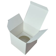 Single Cupcake Box with Base & Removable Insert - Smooth White