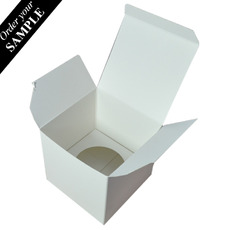 SAMPLE - Single Cupcake Box - Smooth White