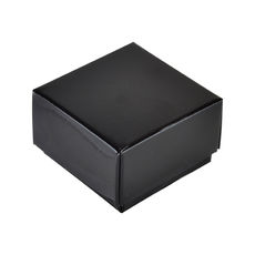 1 Macaroon & Choc Box - Gloss Black Base & Lid (Minimum Order 100 units) (Macaroon lies flat)