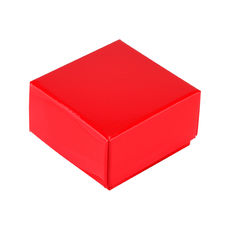 1 Macaroon & Choc Box - Gloss Red Base & Lid (Minimum Order 100 units) (Macaroon lies flat)