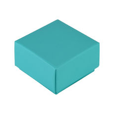 1 Macaroon & Choc Box - Matt Blue Base & Lid (Minimum Order 100 units) (Macaroon lies flat)  - Paperboard