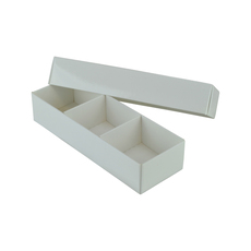 3 Macaroon & Choc Box - Paperboard (Base & Lid with removable insert) (Macaroon lies flat)