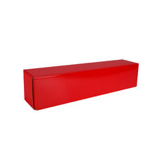 One Piece Postage Box 15151 - Premium Gloss Red (White Inside)