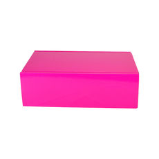 One Piece Postage & Gift Box 15186 - Premium Gloss Hot Pink (White Inside)