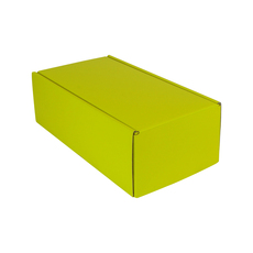 One Piece Postage & Gift Box 15186 - Premium Gloss Yellow (White Inside)