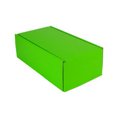 One Piece Postage & Gift Box 15187 - Premium Gloss Lime Green (White Inside)